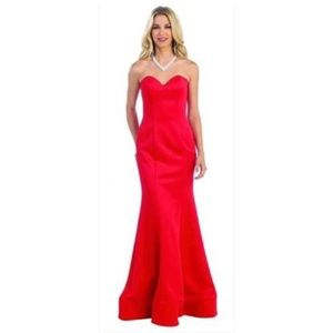 Red Size 4 **Altered** Evening Gown